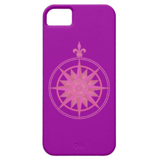 Pink Compass Rose Barely There iPhone 5 Case