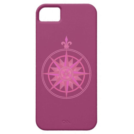Pink Compass Rose iPhone 5 Cover