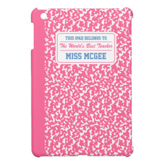 Pink Composition Notebook iPad Mini Cases