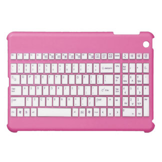 Pink computer keyboard case for the iPad mini