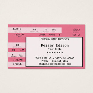 pink concert ticket