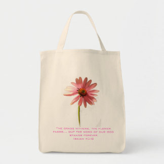 Pink Cone Flower The Grass Withers but