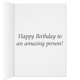 Pink Coneflower Birthday Card