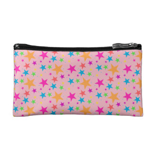 Pink Confetti Black Multi Makeup Bag