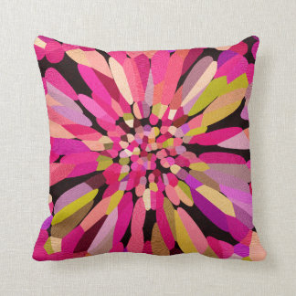 Pink Confetti Flower Throw Pillow