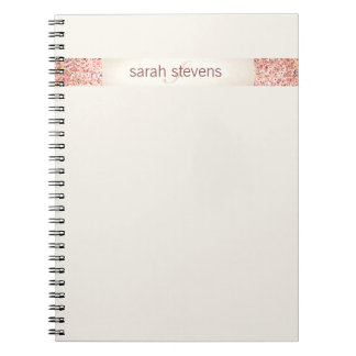Pink Confetti Glitter Spiral Notebooks