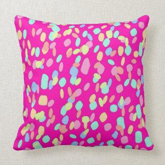 Pink Confetti Pattern Design Cushion