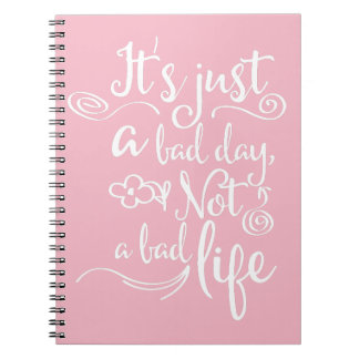 Pink Confidence, Happiness Attitude Life Quote Notebook