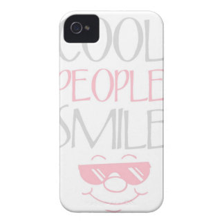 Pink Cool People Smile Statement iPhone 4s Case iPhone 4 Case-Mate Case