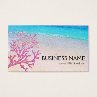 Pink Coral Beach Spa Resort Boutique B&B Business Card