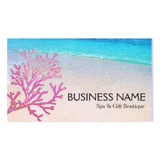 Pink Coral Beach Spa Resort Boutique B&B Pack Of Standard Business Cards