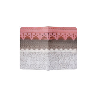 Pink Coral House Passport Holder