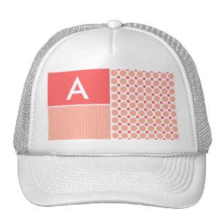 Pink & Coral Polka Dots, Dots Trucker Hats
