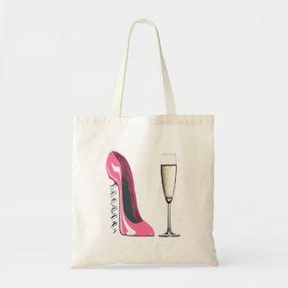 Pink Corkscrew Stiletto Shoe and Champagne Glass