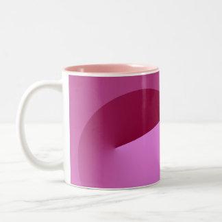 Pink corner coffee mug