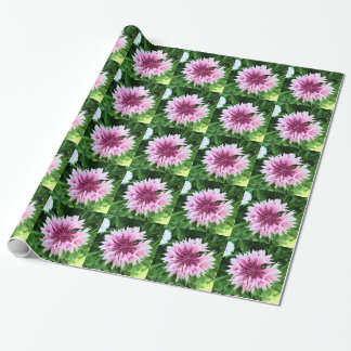 Pink cornflower wrapping paper