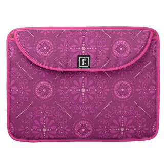 Pink Cosmic Damask Sleeve For MacBooks