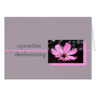 pink cosmos dutch sympathy card