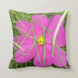 Pink Cosmos Flower Hiding Cushion