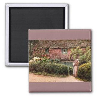 Pink Cottage at Buckingham c1900 Magnets