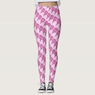 Pink Cotton Candy Floss Spun Sugar Carnival Leggings