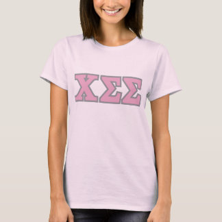 Pink Cotton Tee with Pink Letters
