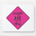 Pink Cougar Crossing 3 Ladies Mouse Pad