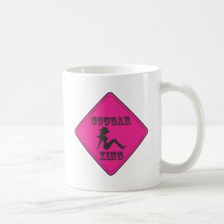 Pink Cougar Crossing Cowgirl Coffee Mug