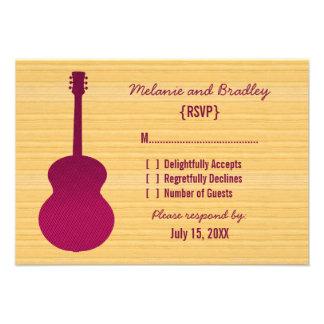 Pink Country Guitar Response Card