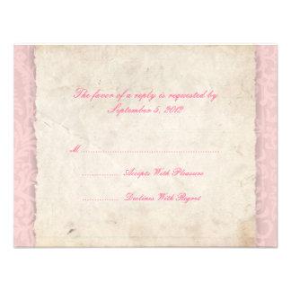 Pink Country Wedding RSVP Invites