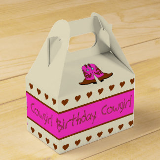 Pink Country Western Cowgirl Boots Party Gift Box Wedding Favour Boxes