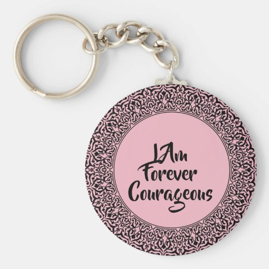 Pink Courageous Key Ring