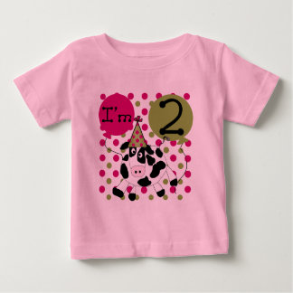 Pink Cow 2nd Birthday T-shirts and Gifts