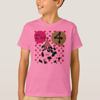 Pink Cow 4th Birthday T-Shirt