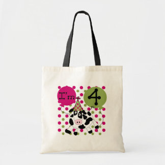 Pink Cow 4th  Birthday Tshirts and Gifts Bag