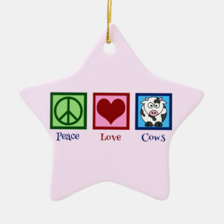 Pink Cow Christmas Ornament