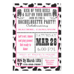 Pink Cow Print Cowgirl Bachelorette Party Invite