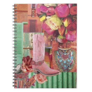 Pink Cowboy Boot Notebooks