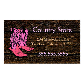 Pink Cowboy Boots-Western Theme Pack Of Standard Business Cards