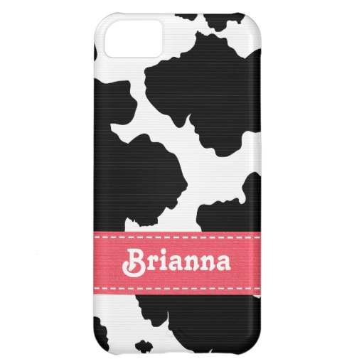 Pink Cowhide iPhone 5C Cover