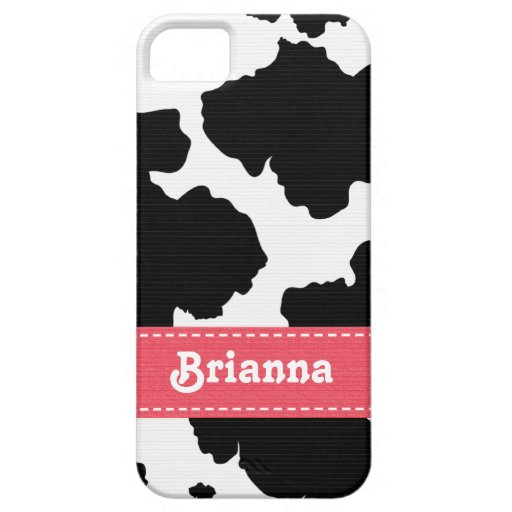 Pink Cowhide iPhone 5 Cases