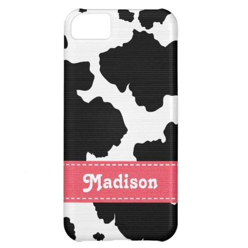 Pink Cowhide Case For iPhone 5C
