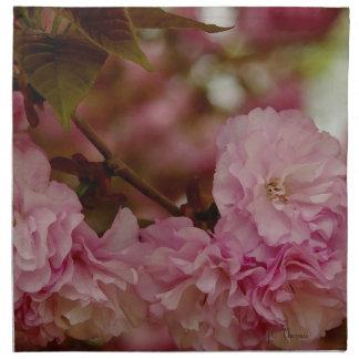 Pink Crab Apple Blossoms Dinner Napkins