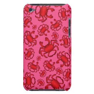 Pink crab pattern iPod touch case