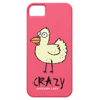PINK Crazy Chicken Lady Cartoon Hen iPhone 5 Cases