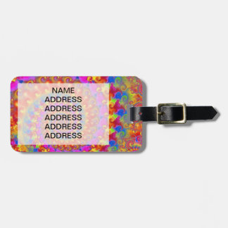 Pink Crazy Fractal Luggage Tag