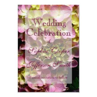 Pink & Cream Hydrangea Wedding collection 9 Cm X 13 Cm Invitation Card