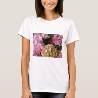 pink  cream hydrangeas T-Shirt