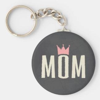 Pink & Cream Mom Chalkboard Text Design Key Chain