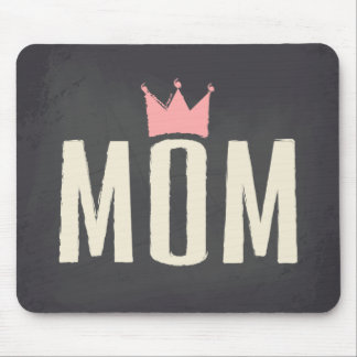 Pink & Cream Mom Chalkboard Text Design Mouse Pads